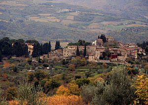 Landscape in the Italian wine region of Greve ...