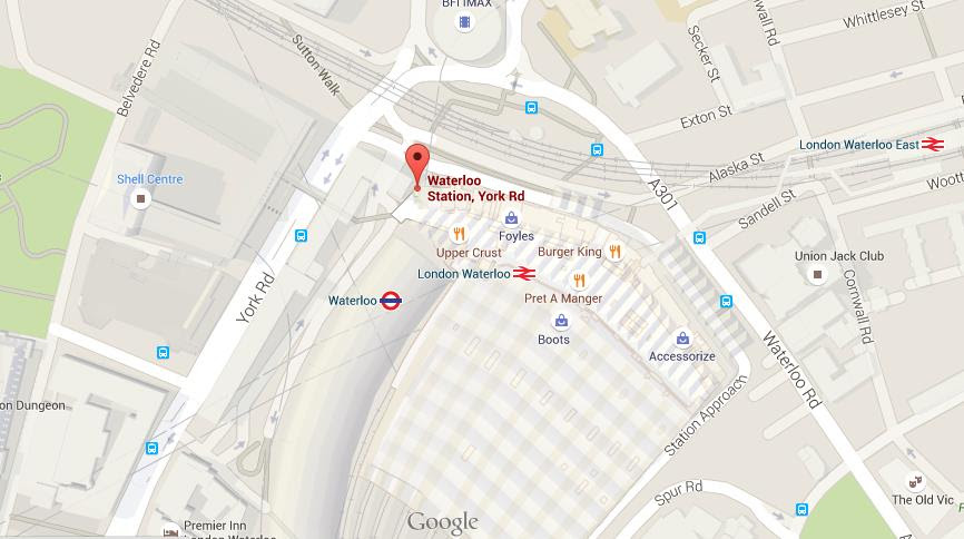 Map Of Waterloo Station