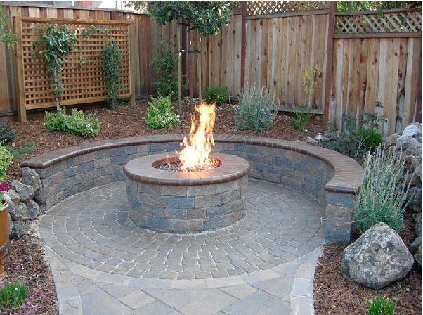 Back Yard Gazebo with Fire Pit Ideas