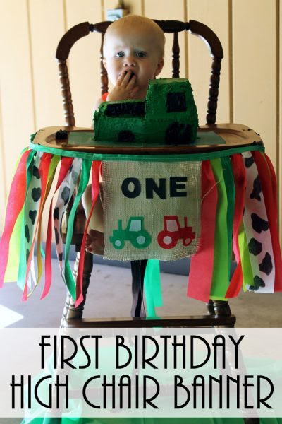 The Country Cottage First-Birthday High-Chair-Banner