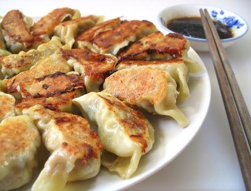 Pork Shrimp and Shiitake Potstickers