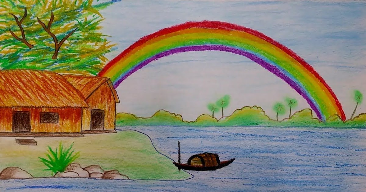 30 Trends Ideas Rainbow Scenery Drawing For Kids