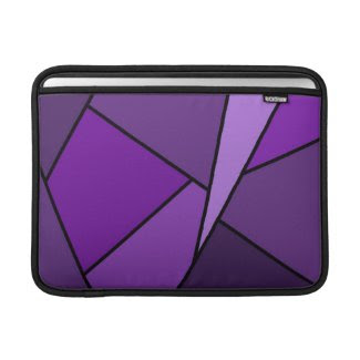 Abstract Purple Polygons MacBook Air Sleeve