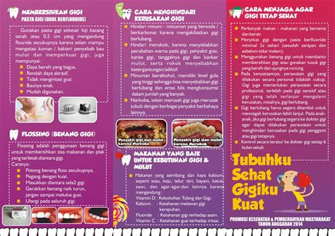 leaflet kesehatan gigi mulut dinas kesehatan provinsi