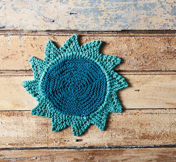 Starflower Dishcloth - Free Knitting Pattern