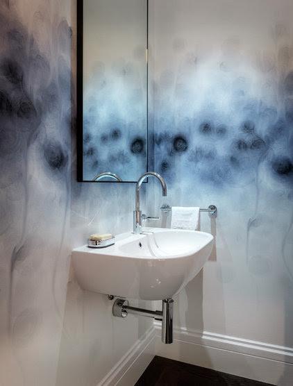 modern powder room by Sutro Architects
