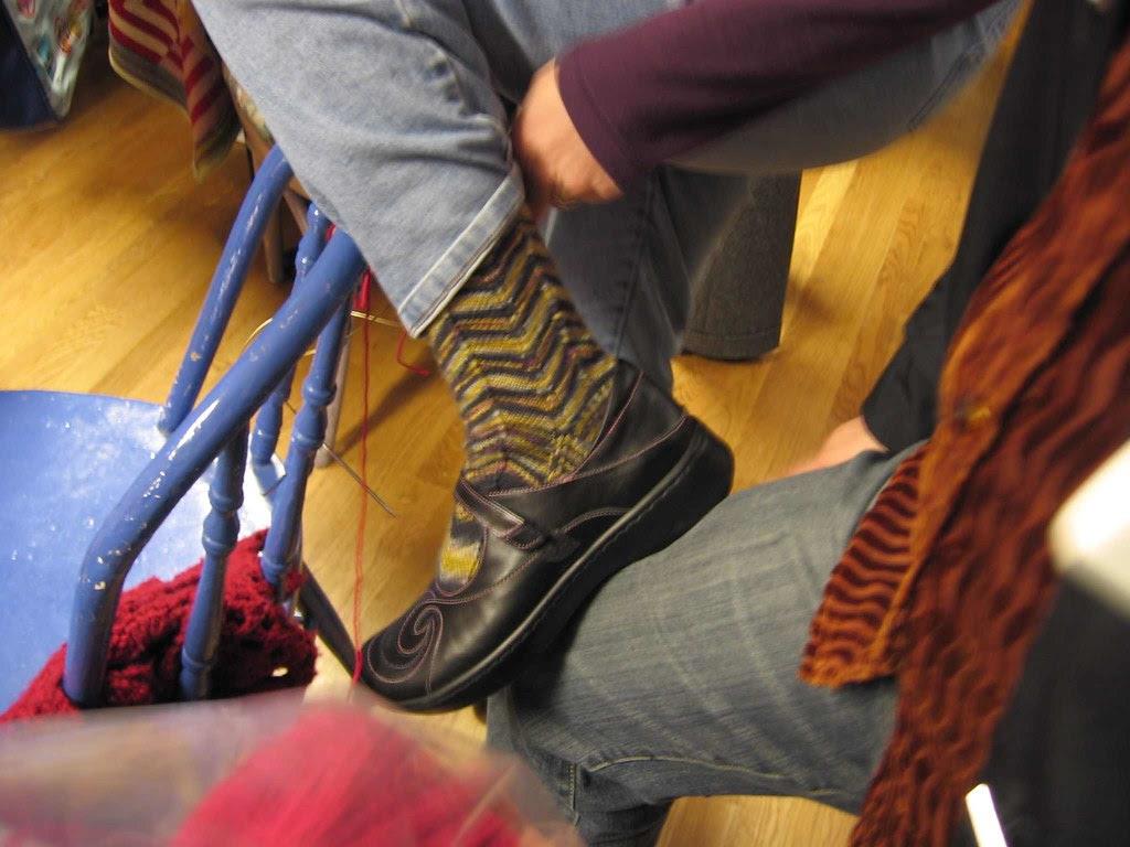 Cara's sock and shoe