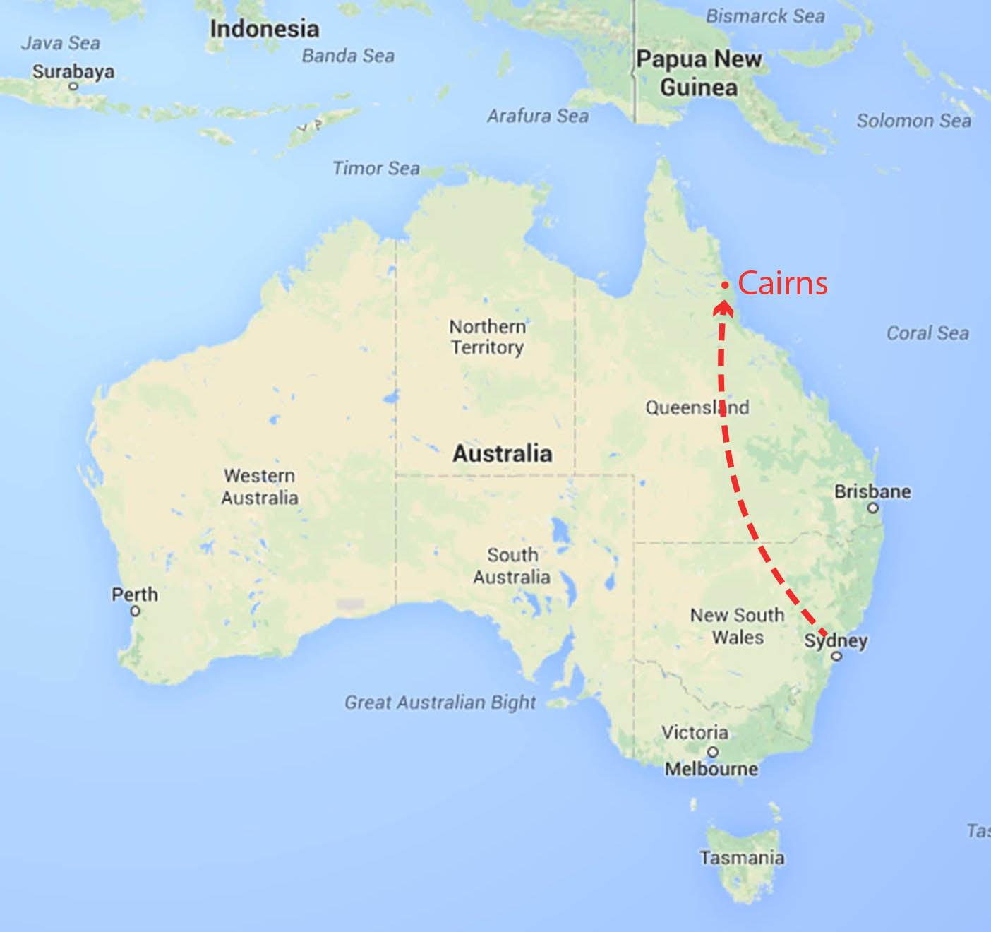 Australia Map Cairns.Cairns Australia Map