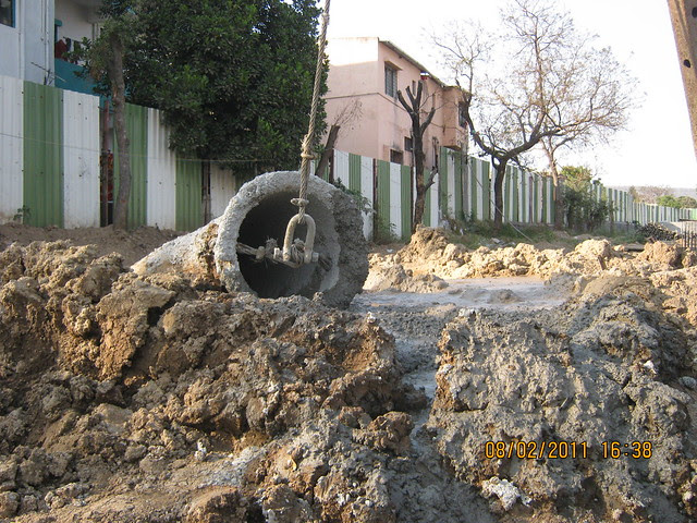 Vastushodh's Urbangram - 2 BHK Flat for Rs. 20 Lakhs - at Kondhawe Dhawade - Pune 411 023 - Construction Begins! - Pile of the B Building