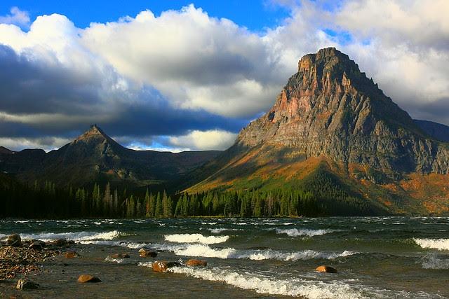 IMG_9639 Mount Sinopah and Two Medicine Lake, Autumn Morning, Glacier National Park