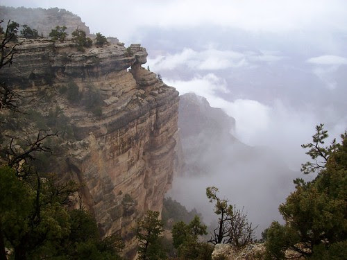 Fog And Clouds Moving Through The Grand Canyon At Trailvie