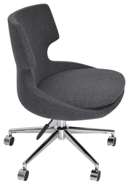 Patara Office Chair by sohoConcept - Dark Grey Wool - contemporary ...