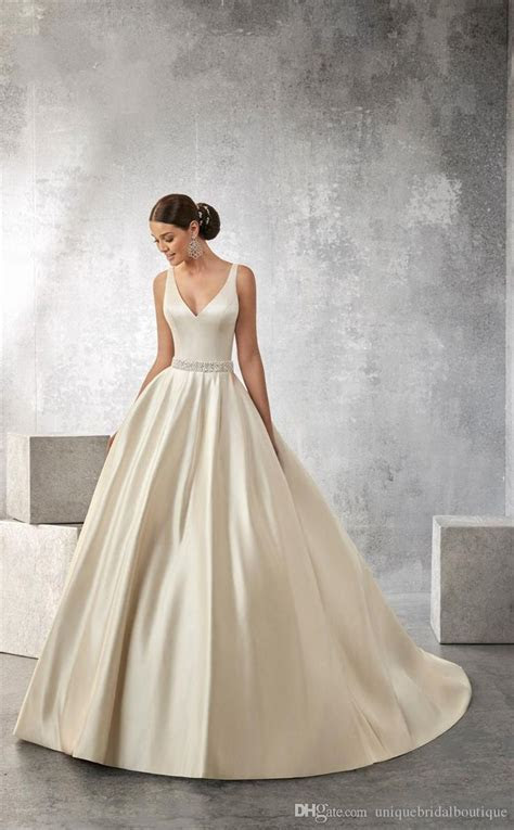 Wedding Dresses 2016 Ronald Joyce With V Neck And Open