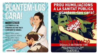 Els cartells d'Endavant amb les imatges polèmiques