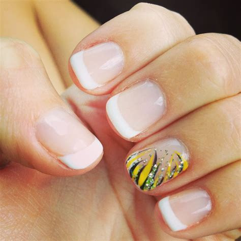 My wedding anniversary nails. Shellac French manicure