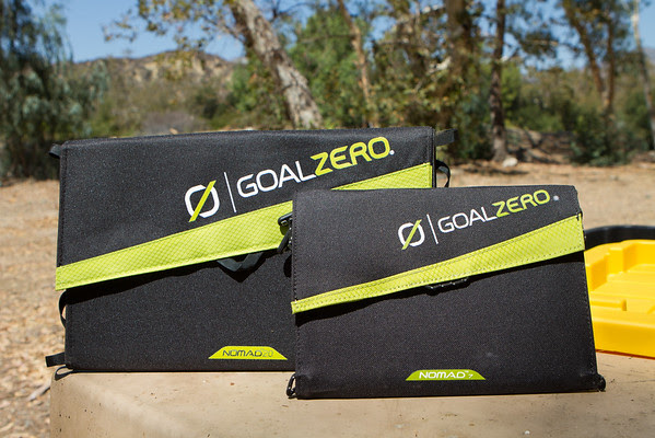 Goal Zero Nomad 20 and Nomad 7 solar panels