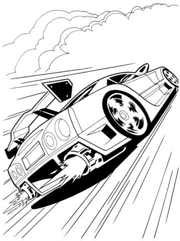 Ausmalbild: Hot Wheels   Ausmalbilder kostenlos zum ausdrucken