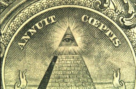 A luz atrás do Olho Que Tudo Vê na nota de dólar americano não é do sol, mas a partir de Sirius.  A Grande Pirâmide de Gizé foi construída em alinhamento com Sirius e por isso é mostrado brilhando acima da pirâmide.  Um tributo radiante para Sirius é, portanto, nos bolsos de milhões de cidadãos.