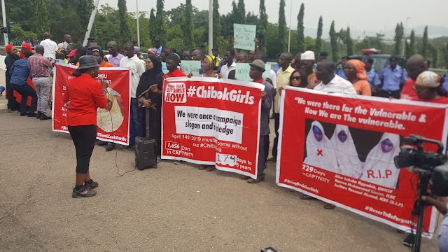"""They Must All Be Freed""— #BringBackOurGirls Renews Call For Justice As Chibok Girls Remain In Captivity For Seven Years"