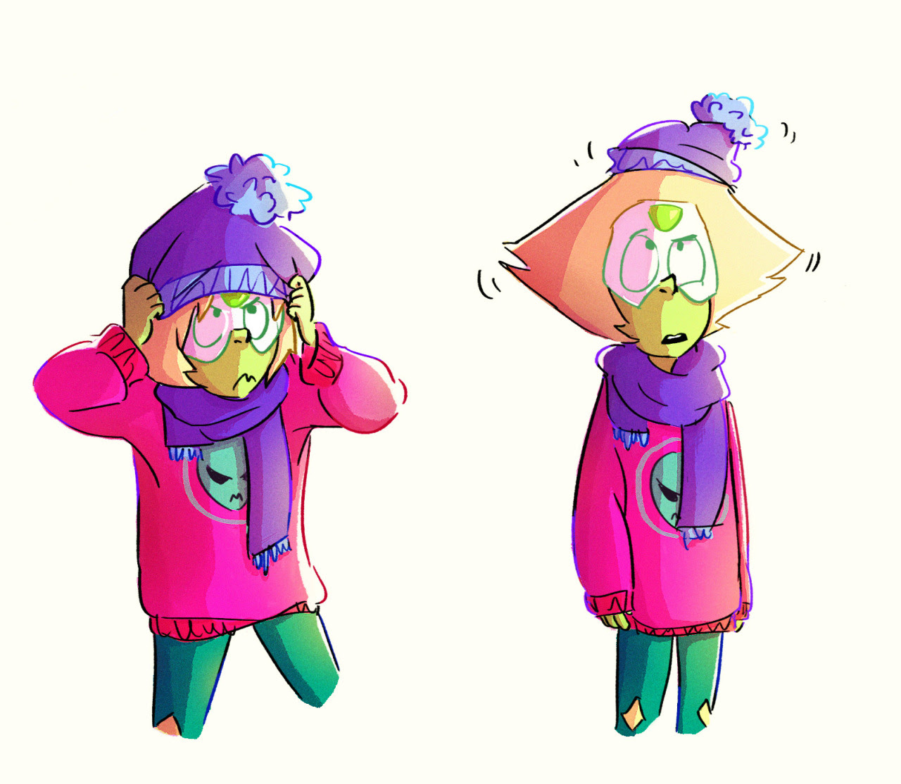 I really love drawing Peri. She is so cute and small.