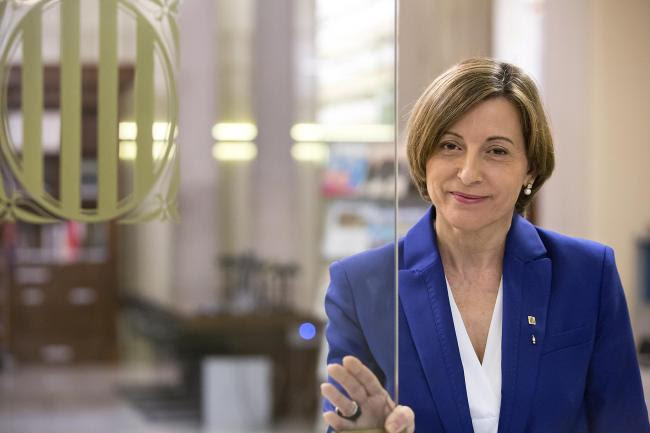 Carme Forcadell is facing a ban from public office for allowing a vote on a referendum. Photograph: Lluís Brunet