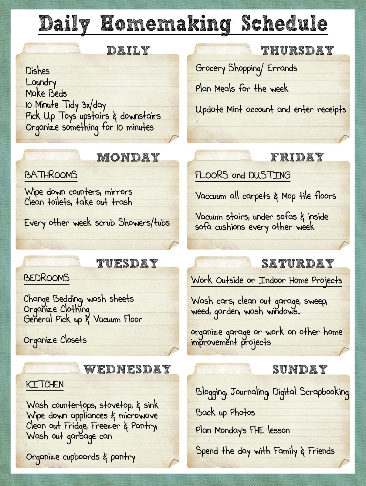 1000+ ideas about Cleaning Rota on Pinterest | Spring cleaning ...