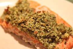 Almond basic crust for salmon