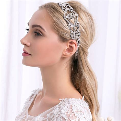 Full of rhinestone with Lace band headband for bridal Hair