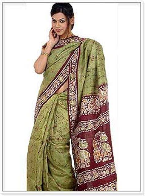 Batik Printed India Women Garments, Batik Print Saree