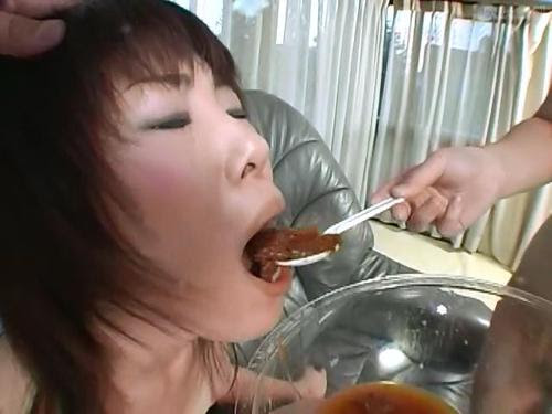 Tits asian girl eating poop black chicks with