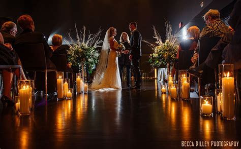 Candlelight ceremony at the Guthrie   Minneapolis Wedding