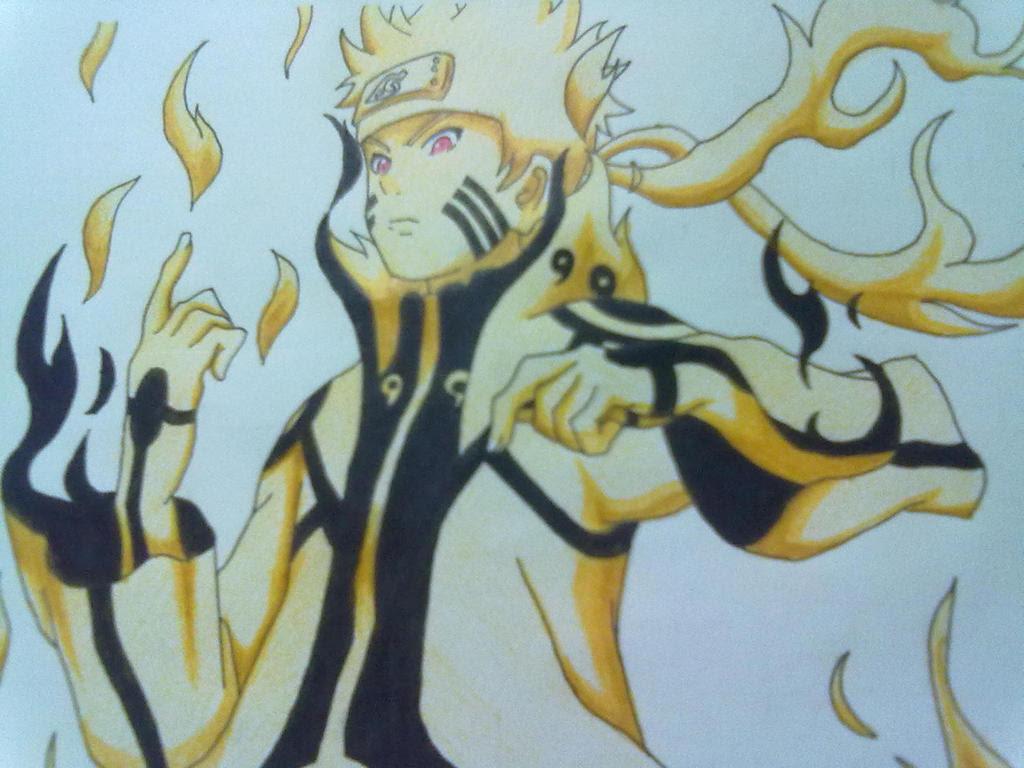 Gambar Pensil Naruto Mode Kyubi | Anime Wallpaper