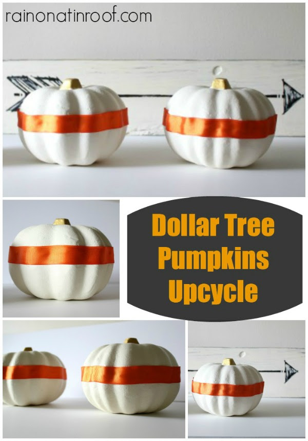 Dollar Tree Pumpkin Upcycle by Rain on a Tin Roof