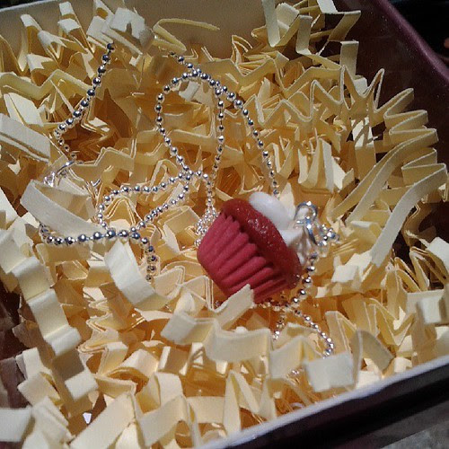 Red velvet cupcake pendant. #redvelvet #cupcake #jewelry