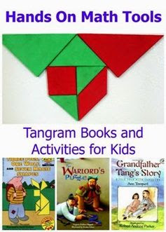 Tangram Books And Activities for Kids #mathforkids #handsonlearning