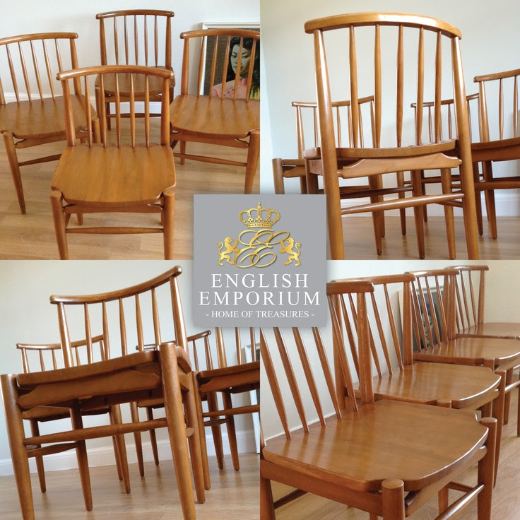 RARE Retro 1960's/70's 'Ensign' chair set  | English Emporium Sales