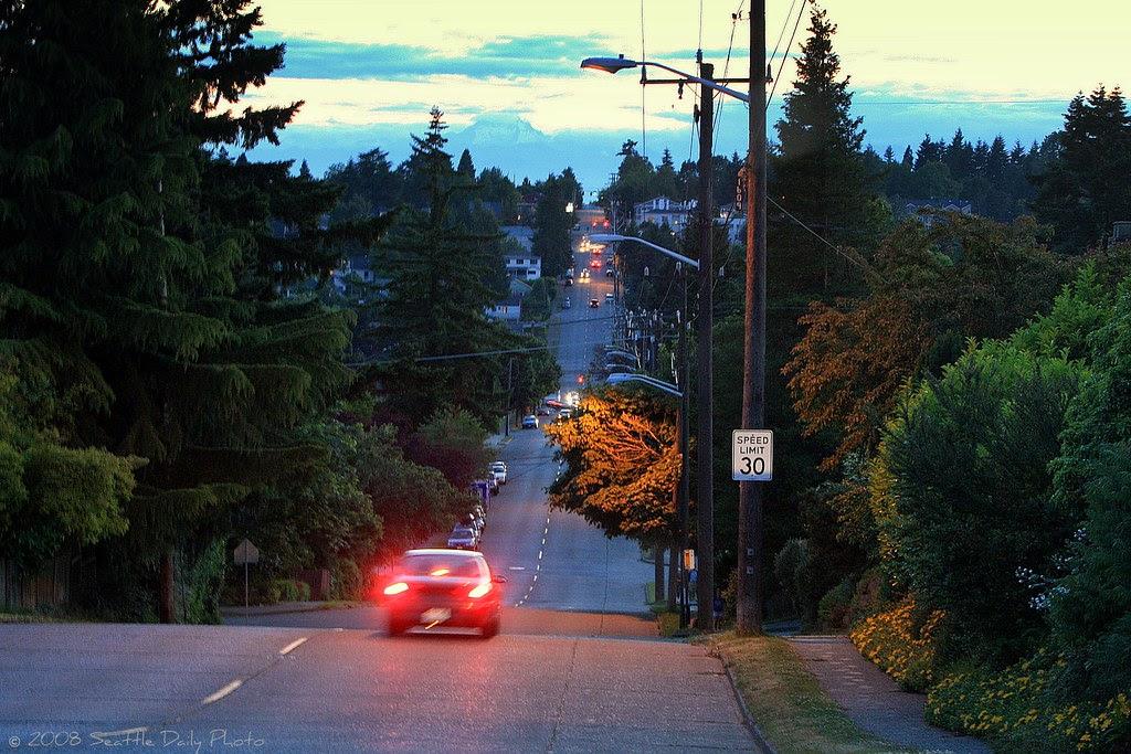NE 65th St. in Viewridge Neighborhood Looking West