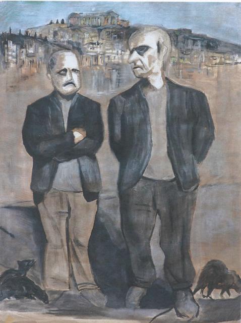 Θα μπορούσε να ήταν: «Άνθρωποι και ποντίκια», του John Steinbeck. Στην πιο παλιά πόλη του κόσμου (λίκνο του πολιτισμού), στην «Αυλή των Θαυμάτων» του Ιακωβου Καμπανέλλη, μέρα και νύχτα μια πόλη όπου συνυπήρχαν πάντα αρμονικά το χθες με το σήμερα, δυο ξεπεσμένοι «αστοί» συζητούν. Αναφορά στο σήριαλ της ΥΕΝΕΔ:«ΕKEINOΣ και ΕΚΕΙΝΟΣ» του Κώστα Μουρσελά (επί χούντας), το οποίο παρακολούθησα ενώ ήμουν μικρό παιδί, προσπαθώντας να καταλάβω τα φιλοσοφικά νοήματα. Νοήματα, στα οποία υπήρχαν κρυφές πολιτικές αιχμές! Στα πόδια των «ξεπεσμένων αστών» υπάρχουν «τρωκτικά».