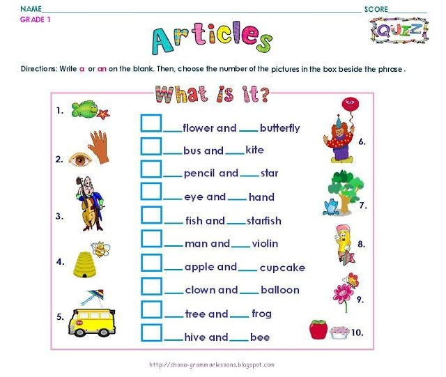 1st Standard English Worksheet Pdf