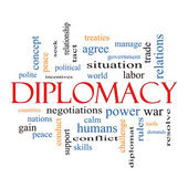 Diplomacy Word Cloud Concept — Stock Photo #44349765