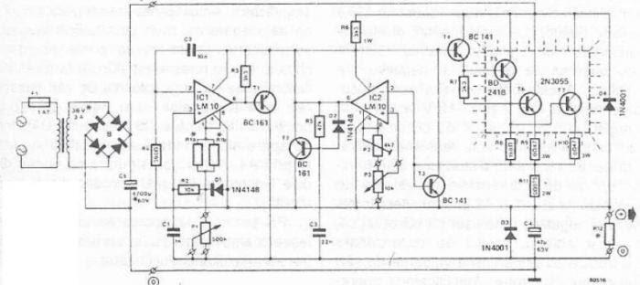 50V Bench Power Supply Circuit Diagram Circuit Diagram