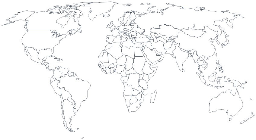 world black and white map - Focus.morrisoxford.co