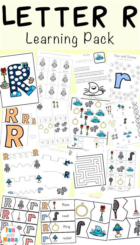 Letter R Worksheets and Printable Preschool Activities