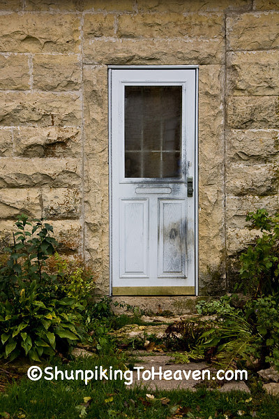 Door of Old Stone House, Filmore County, Minnesota