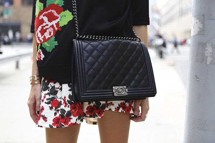 Swag sweater, MSGM skirt, chanel bag
