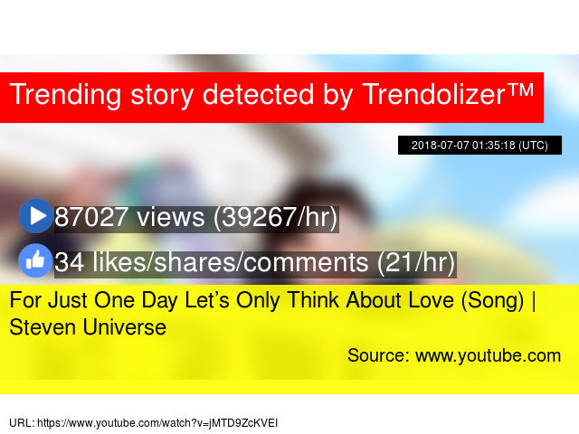 For Just One Day Lets Only Think About Love Song Steven Universe
