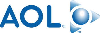 The second logo for AOL, used from 2006–2009