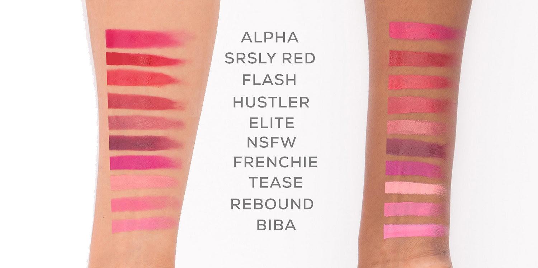 BareMinerals Statement Luxe Shine Lipstick Swatches