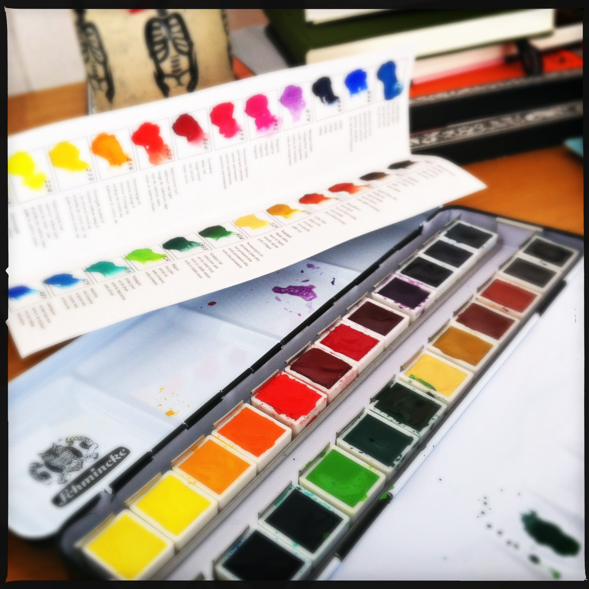 new travel set of watercolors