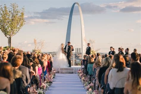 Rooftop Ceremony with City Views   Dreamy Reception in St